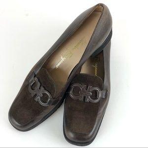Salvatore Ferragamo Brown Leather Loafers 8.5 B